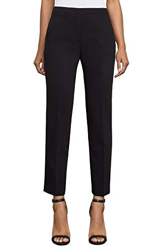 BCBG Max Azria Womens Straight-Leg Trouser Pants Black 6