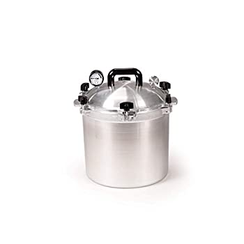 Image of All American 921 Canner Pressure Cooker, 21.5 qt, Silver Home and Kitchen