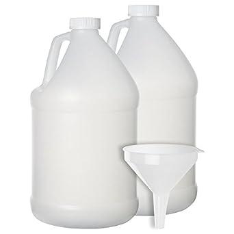 2 unidades – 1 Gallon recipiente grande de estilo jarra – botella de plástico con tapa
