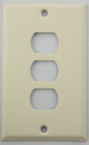 Ivory Wrinkle One Gang Wall Plate for Three Despard (Steel Despard Wall Plate)
