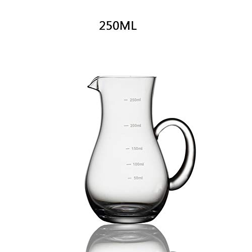 Crystal Glass Wine Decanter, Red Wine Aerator Lead Free Alcohol Carafe Measuring Cup Perfect Gift For Wine Lovers-b 250ml