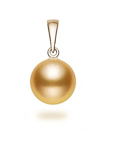 11-12mm Golden South Sea Cultured Pearl Pendant AA+ Quality 14K Yellow ()