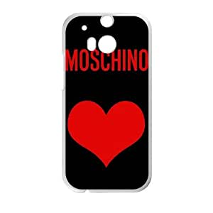 HTC One M8 Phone Case White moschino logo QY7037658