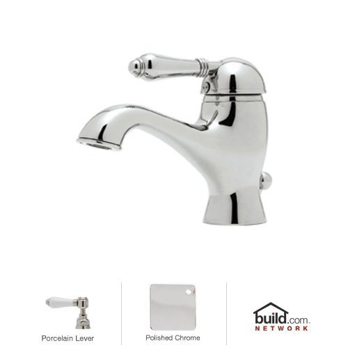 Rohl Pop (Rohl A3402LPAPC-2 Country Bath Bathroom Faucet with Porcelain Lever Handle And Pop-, Polished Chrome)
