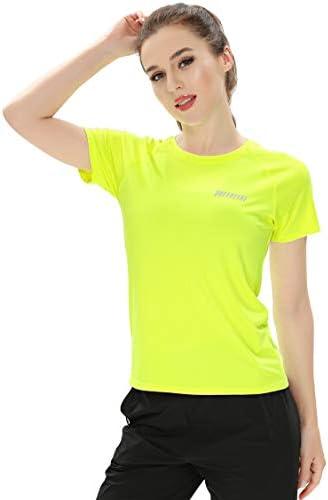 レディース スポーツ tシャツ 半袖 速乾 薄手 ランニング トレーニング 再帰反射 8055 19105