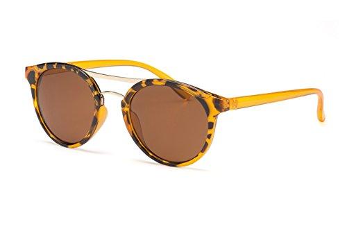 Filtral Große Runde Sonnenbrille / Trendige Retro-Sonnenbrille mit goldenen Bügeln und Schlüssellochsteg F3001118 7qJ8bw