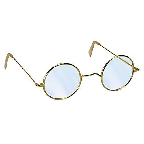 Loftus Mrs Claus Round Old Granny Costume Glasses, Silver