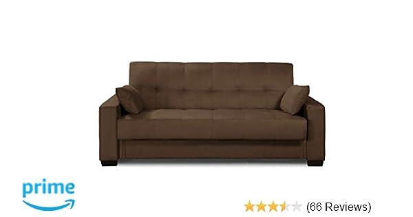 Amazon.com: Pearington MIA-BRW-95 Mia Sofa Bed- Microfiber, Multi ...