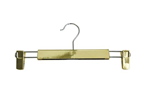 Newtech Display HPB-K14/GOLD Chromed Pants/Skirt Hanger (Pack of 100) by Newtech Display