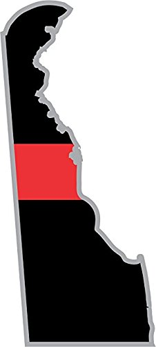 Thin Red Line Delaware State 5.5 Inch Decal
