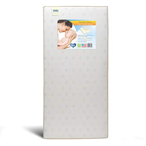 Delta Children Twinkle Stars Fiber Core Crib and Toddler Mattress