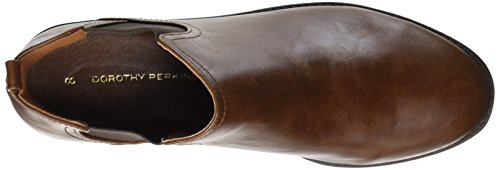Dorothy Perkins Damen Moon Chelsea Boots, Braun (Brown)