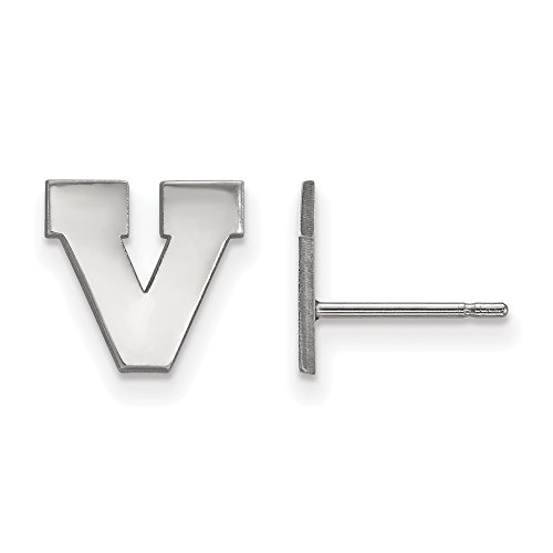 LogoArt 10k White Gold University of Virginia XS Post Earrings 1W049UVA by LogoArt