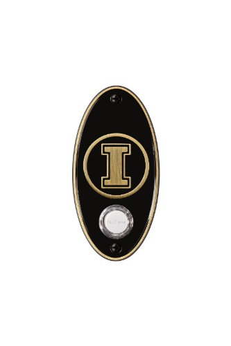 NuTone CP2ILAB College Pride University of Illinois Door Chime Pushbutton, Antique Brass