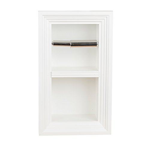 (Florida Breeze Cabinets Zephyr Recessed Toilet Paper Holder with Spare Roll,)