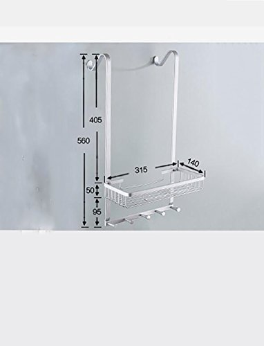 YAOHAOHAO Bathroom shelving free shower hole room rack, bath rooms 304 stainless steel wall hanging Shopping Cart 1 layer depend on storage rack (Color (a) by YAOHAOHAO (Image #1)