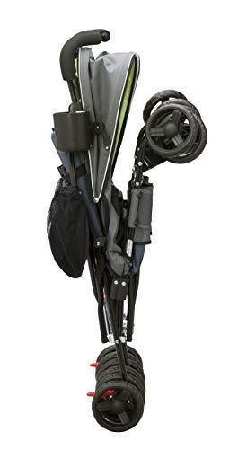 Delta Children LX Side By Side Tandem Umbrella Stroller, Lime & Green