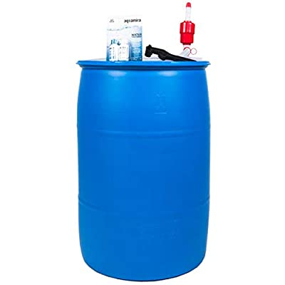 Augason Farms 6-07910 Water Filtration and Storage Kit 55 Gallon BPA-Free Wate