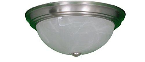 HOMEnhancements 15' 3-Light Alabaster Ceiling Fixture - NK CF-3A-NK