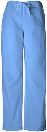 Cherokee Workwear Men's 4000 Drawstring Cargo Scrub Pant- Ceil Blue- Medium by Cherokee Workwear Originals