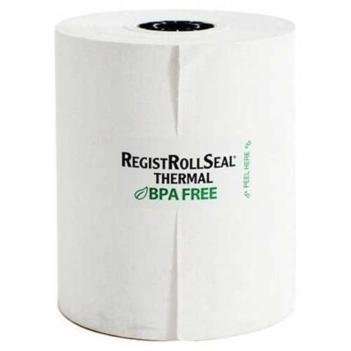 National Checking Phenol Free Thermal White 1 Ply Registroll, 3.13 inch x 230 Feet -- 50 per case. by National Checking