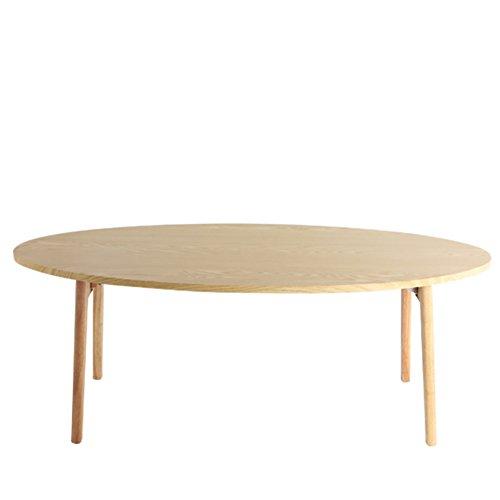 Oak Oval Magazine Rack - D&L Solid Wood Waterproof Side Table, Oval Sofa Table Bedroom Night Table Creativity Coffee Table Modern Simple Telephone Table Storage Rack-B