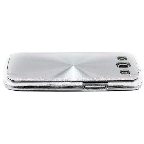 Cookie gadgets - Caso / cubierta / caja / metálico elegante funda cd / Premium / Premium Calidad / Samsung galaxy S3 - Plata aluminio