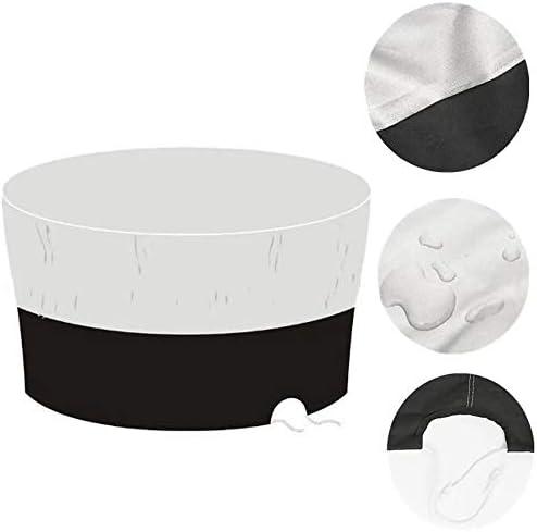 家具ダストカバー 防水テラスガーデン庭屋外用家具の通年使用に適した円卓防塵の家具セットを設定します。 優れた汎用性 (色 : 白)