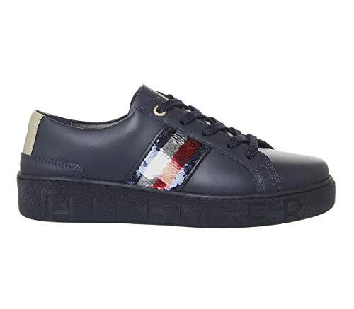 Sneakers Tommy Femme Hilfiger Bleu Fw0fw03704 qAgwE8p