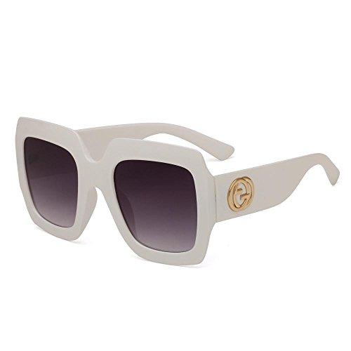 Retro anti Aoligei de grande de gafas ultravioletas Europeo sol marco gafas Los y hombres gafas F de americano de sol FccRaSYr