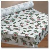 Hoffmaster Seasonal Linen-Like Banquet Roll Winterberry Tablecover, 40 inch x 100 feet - 1 each.