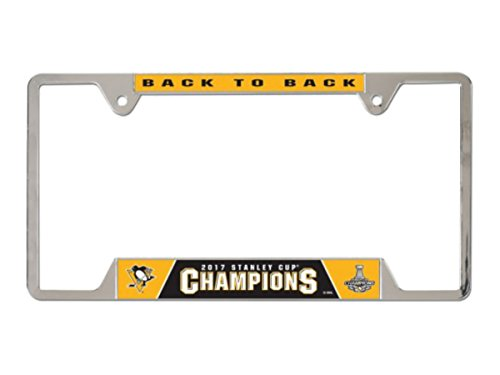 WinCraft Pittsburgh Penguins Official NHL 2017 Stanley Cup Champions License Plate Frame Metal by ()