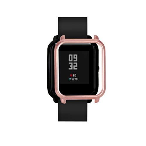 ... Carcasa de PC Funda Proteger Carcasa para Xiaomi Huami Amazfit Bip Youth Watch Protector para Reloj (Oro Rosa): Amazon.es: Deportes y aire libre