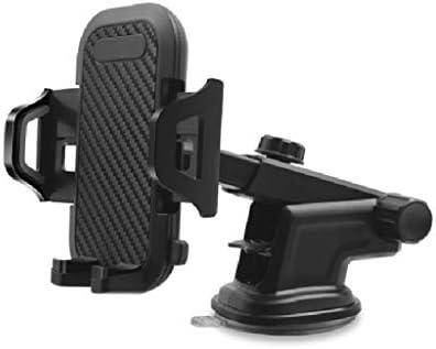 車の電話ホルダー、多機能カーナビゲーションフレーム付きインストルメントパネルエアアウトレットフロントガラス (色 : B)