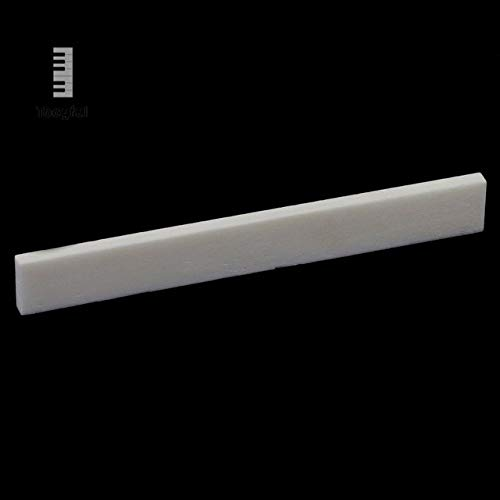 Sala-Fnt - Portable Nut & Saddle Real Pure Acoustic Natural Cattle Bone Replacement Accessories for Handmade Classical Guitar Ivory
