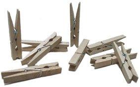 100 Stuck Holz Wascheklammern Bastelklammern Klammern Basteln
