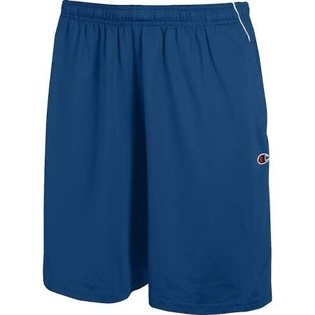 """Champion Man's All-Star Double Dry 10"""" Stretch Short W/Pockets, L-Athletic Royal/White"""