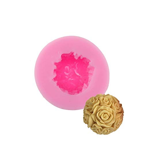 Clay Extruders - 1pcrose Flower Leaf Silicone Mold Chocolate Moulds Resin Clay Soap Candle Molds - Clay Mixers Professional Presses Extruders Clay Extruders Flower Soap Birthday Candle - Candles Jasmine Bouquet