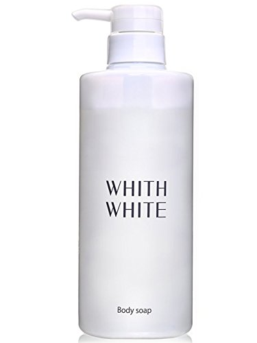 【 Made in Japan 日本 】WHITH WHITE Whitening Body Wash Pump Soap 【 for Sun Spots 】&【 for Private Parts 】 Moisturizing with Mild Floral Scent, Reduce Darkened Pores and (Pump Body Parts)
