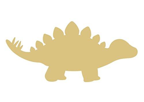 Stegosaurus Wood (Stegosaurus Dinosaur Unfinished Wood Shape Cutout Variety Sizes USA Made Nursery Decor (6