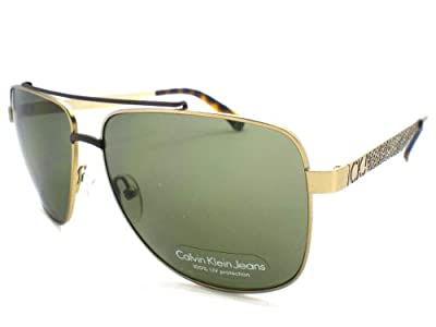 Calvin Klein Jeans Sunglasses CKJ110S 201 Gold & Brown Green