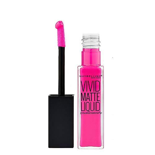 Maybelline New York Color Sensational Vivid Matte Liquid Lipstick, Electric Pink, 0.26 fl. oz.
