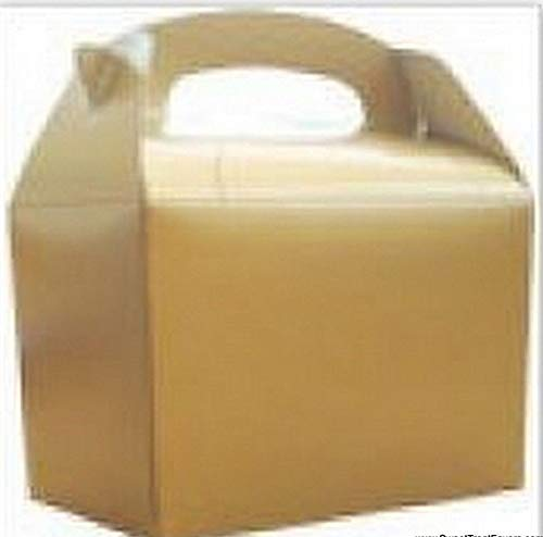 Gable Kit - Party Favors GOLD 12 BOXES Gable Bag Yellow Tote Lunch Box 12PC