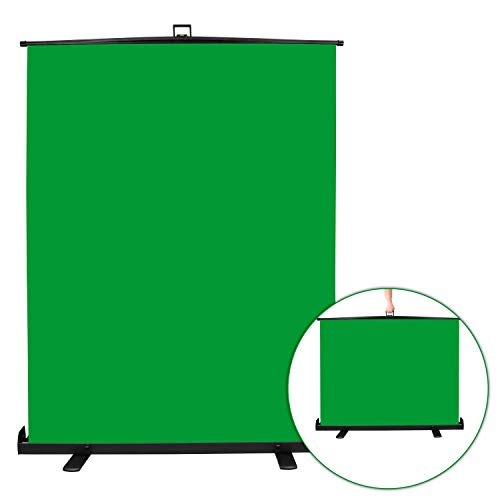 Emart Green Screen, Collapsible Chromakey Panel for Photo Backdrop Video Studio,Portable Pull...
