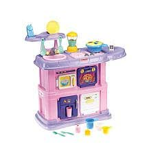 Amazon Com Fisher Price Pink Grow With Me Kitchen Toys