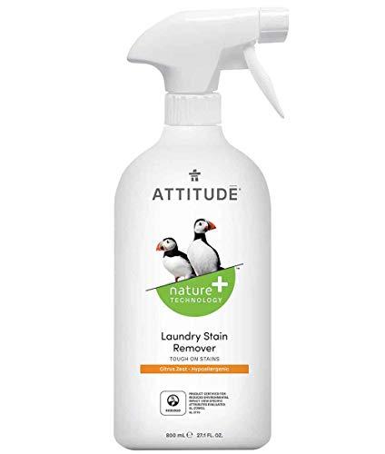 ATTITUDE Nature +, Hypoallergenic Laundry Stain Remover, Citrus Zest,  27.1 Fluid Ounce