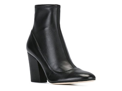 Sergio Rossi Women's Black Soft Leather Ankle Boots - Boo...