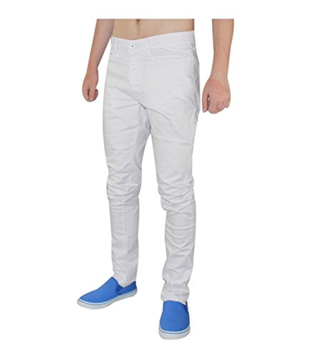 pantaloni Chino Denim Fit Uomo White Skinny Jeans Modello Ez196 Stretch Cotone In Enzo Slim Motivo xBZZfaqv