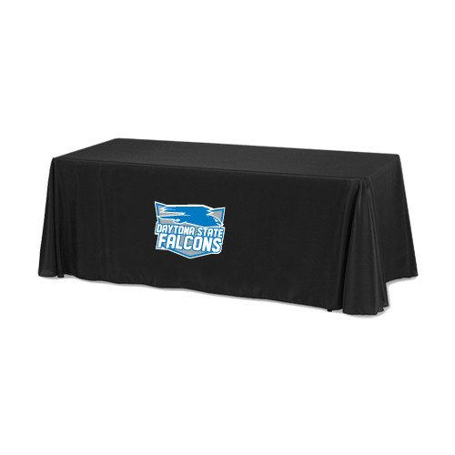 Daytona State Black 6 foot Table Throw 'Official Logo' by CollegeFanGear