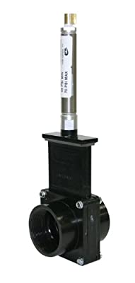 "Valterra 9207 ABS Gate Valve, Black, 2"" FPT, Metal Air Cylinder by Valterra Products"